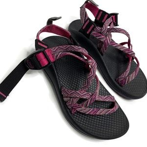 Kids Chaco Pink Chevron Sandals Youth 13